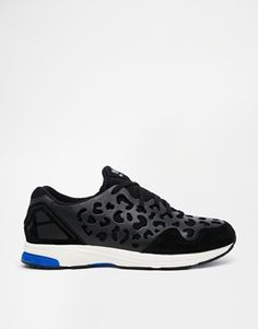 Are these for real? OMG, WANT!!  Adidas ZX Zero Leopard Print Black Trainers