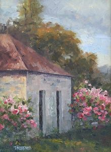 Cottage Roses by Ann Tristani in the FASO Daily Art Show