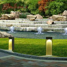 79.00$  Buy now - http://alioe2.worldwells.pw/go.php?t=32663956693 - Outdoor Waterproof 10W LED Garden Lawn Lamp Minimalist Modern Landscape Park Lawn Light Garden Lighting Aluminum Lamp AC85-265V 79.00$