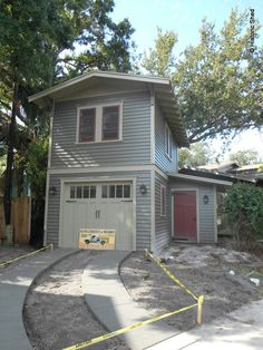 Two story one car garage apartment historic shed for 1 story garage with living quarters
