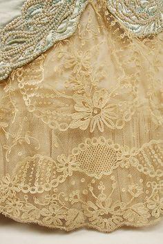 House of Worth, 1890s. Dress hem detail.