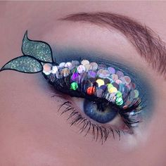 We are SO impressed at this amazing #makeupart by Kayla Hagey  those sequins are EVERYTHING.