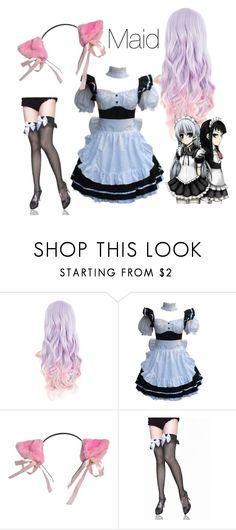 """neko maid"" by angel-x3 ❤ liked on Polyvore featuring anime, kawaii, cosplay, maid and Neko"