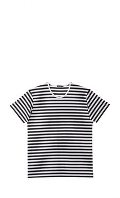 The Lyhythiha t-shirt is made of cotton jersey in the classic Tasaraita (even stripe) pattern. It has a round ribbed neckline, a straight cut and a unisex design and sizing. Capsule Wardrobe Casual, My Wardrobe, Marimekko, Unisex, Mens Tops, Shirts, Black, Ss, Minimal