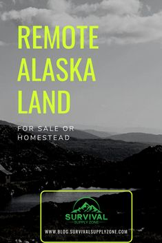 Looking for remote Alaska land for sale? Here are things you need to know before buying one & the cost of living off the grid in Alaska Urban Survival, Homestead Survival, Wilderness Survival, Survival Prepping, Survival Skills, Survival Gear, Survival Knife, Survival Tattoo, Survival Weapons
