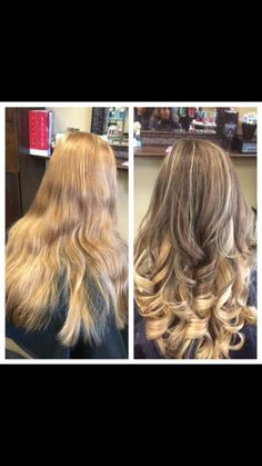 Before and after  Hair by Kim Wilson