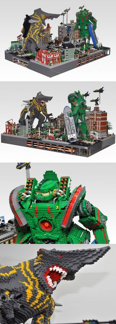 LEGO Pacific Rim by Olive Seon  Well damn. that's pretty sick.