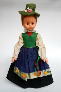 Italy Lenci Doll Tirolo with Label 30 cm