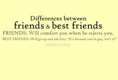 Friends vs. Best Friends - Click image to find more hot Pinterest pins