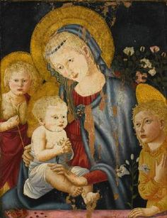 PSEUDO-PIER FRANCESCO FIORENTINO (active 1460-1500 in Florence)   Click!	 Madonna and Child with the Infant St John the Baptist and an Angel  1460-1500 Tempera on panel, 65 x 51 cm Private collection  Formerly, this panel was in the Metropolitan Museum of Art, New York. It was sold for the Acquisitions Fund in 2013. Several variants of the design are known in various museums and private collections. Datable to the last third of the fifteenth century, this is a typical work by the hand known…