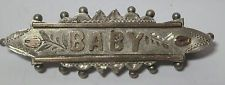 sterling silver antique baby pin