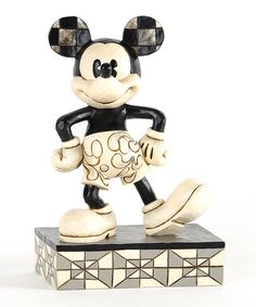 Look at this Mickey Mouse Jim Shore Disney Traditions Black & White Mickey Figurine on #zulily today!