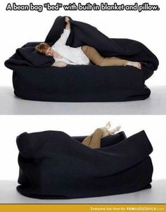 My Life Really Needs This. I have a bean bag chair. I place it in front of my t. But my room is freezing and I got a leather bean bag chair. So this would be perfect! Bean Bag Bed, Take My Money, Cool Inventions, Looks Cool, My New Room, My Dream Home, Cool Furniture, Furniture Stores, Must Haves