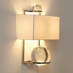 lucite & brass sconce  ep.yimg.com