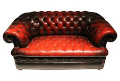 One Kings Lane - British Accent - 1930s English Chesterfield    Sofa