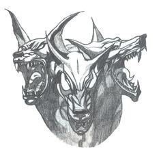 Cerebus The Hellhound by daldaemar on DeviantArt Hellhound Tattoo, Tattoo Drawings, Moose Art, Deviantart, Animals, Animaux, Animal, Animales, Animais