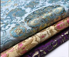 3 colors chinese vintage GUANYIN Buddhism flower tapestry brocade fabric by Yard stage upholstery cheongsam Pleated Fabric, Brocade Fabric, Satin Fabric, Cheongsam, Bodies, Guanyin, One Piece, Brokat, Textiles