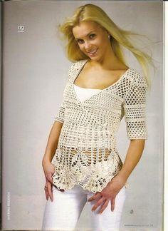 3 modelos do mesmo crochê blusas estilo tecido | Todos crochet