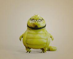 Beard Crocodile, Pizza Chen on ArtStation at http://www.artstation.com/artwork/beard-crocodile