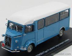 ELIGOR 101493 Scale 1/43  CITROEN TYPE-H AUTOCAR MINIBUS LONG TRANSPORT SCOLAIRE 1968 BLUE WHITE