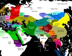 Eurasia c 1200 pre Genghis