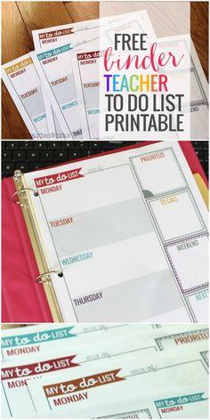 Teacher Planning Weekly To Do List - KindergartenWorks