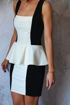 summer dress?  black and white dress  (link only goes to photo-)