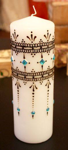 декорирование свечей своими руками