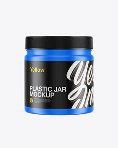 Sport Nutrition Matte Plastic Jar Mockup - Front View in Jar Mockups on Yellow Images Object Mockups Phone Mockup, Bottle Mockup, Mockup Templates, Sports Nutrition, Plastic Bottles, Cutting Files, Jar, Pet Plastic Bottles, Sports Food