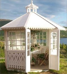If you have a lot of space in your garden than having a gazebo can be great choice. Gazebo is a perfect place where you can enjoy with your family when Gazebo Pergola, Pergola Design, Garden Gazebo, Gazebo Ideas, Pergola Kits, Screened Gazebo, Garden Sheds, Garden Paths, Outdoor Rooms