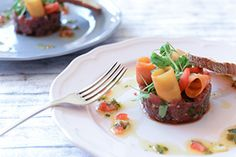 Qooking.ch | Tartare de boeuf Ceviche, Beef, Recipes, Food, Pickled Carrots, Meat, Meals, Eten