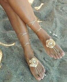 For a beach wedding: still have pretty feet without having to wear shoes.