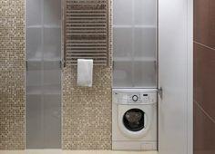 Apartament de 60 mp cu 2 camere în nuanțe de bej-maro - Edifica Stacked Washer Dryer, Washer And Dryer, Home Appliances, House Design, Modern, Design Interior, Neutral, House Appliances, Trendy Tree