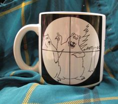 VINTAGE The Far Side Coffee Mug Cup 1981 Bears in the Crosshairs by Gary Larson!