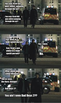 """You ain't seen Bad Boys Epic Sherlock/Hot Fuzz cross over! Sherlock Holmes Benedict, Sherlock Fandom, Sherlock Bbc, Benedict Cumberbatch, Elementary My Dear Watson, Psychedelic Rock, Geek Humor, Film Serie, My Escape"