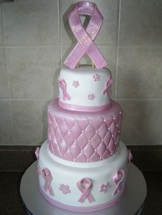Breast cancer cake by june