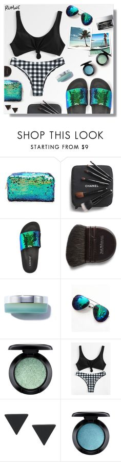 """""""Vamos a la playa!"""" by peony-and-python ❤ liked on Polyvore featuring Forever 21, Chanel, Bamboo, Trish McEvoy and MAC Cosmetics"""