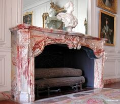 Marble Fireplace Fireplace Inserts, Fireplace Mantle, Living Room With Fireplace, Fireplace Ideas, Versailles, Vestibule, Marble Fireplaces, Interior Decorating, Interior Design