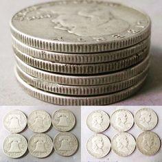 6 United States Franklin half dollars. Bids close Thurs, 13 Oct from 11am ET. http://bid.cannonsauctions.com/cgi-bin/mnlist.cgi?redbird71/1807