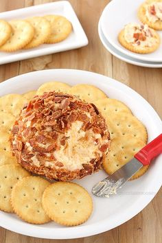 A giant ball of cheese rolled in bacon – if that's not a great way to start a party then I'm not sure what is.