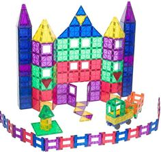 Playmags 150 + 18 Piece Set: Now with Stronger Magnets.Building toys for 3 year old boys
