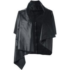 Drome oversized jacket ($1,355) ❤ liked on Polyvore featuring outerwear, jackets, black, lamb leather jacket, drome, oversized jacket, lambskin jacket and lambskin leather jackets