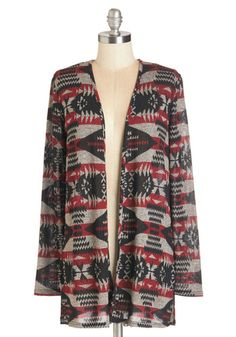 Copacetic My Word for It Cardigan. All is well when youre snuggled up in this southwestern-inspired print cardigan! #gold #prom #modcloth