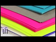 PopSet Eye Catching Card Stock Paper Colors - YouTube