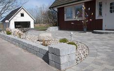 Garageuppfart Garden Ideas Driveway, Backyard, Patio, Modern Kitchen Design, Fixer Upper, Garden Inspiration, Bellisima, Shed, New Homes