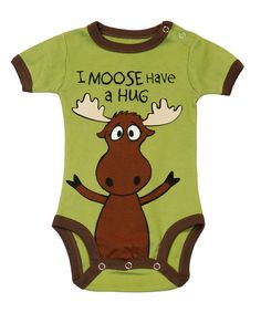 This Green 'I Moose Have a Hug' Bodysuit - Infant by Lazy One is perfect! #zulilyfinds