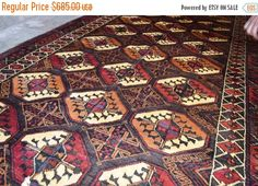 40% OFF SALE Stunning Akhal Tekke Pattern Long Runner by TEKKARUG