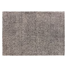 BROKEN LINES Large black and white wool rug 170 x 240cm