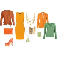 """Bright Spring - orange yellow"" by adriana-cizikova on Polyvore"