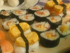 Sushi maki i nigiri ~ Kurczak w cieście na ostro